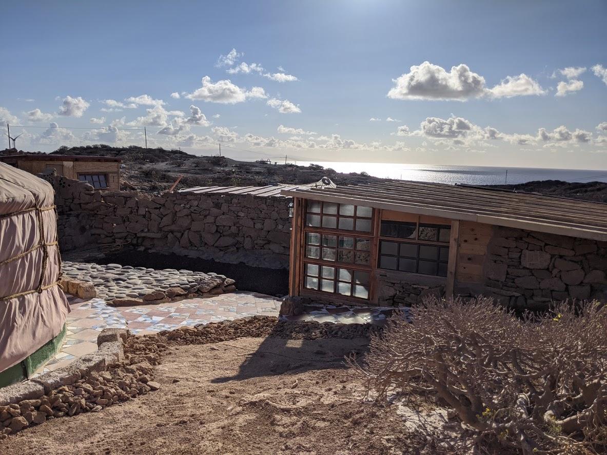 yurt view outside