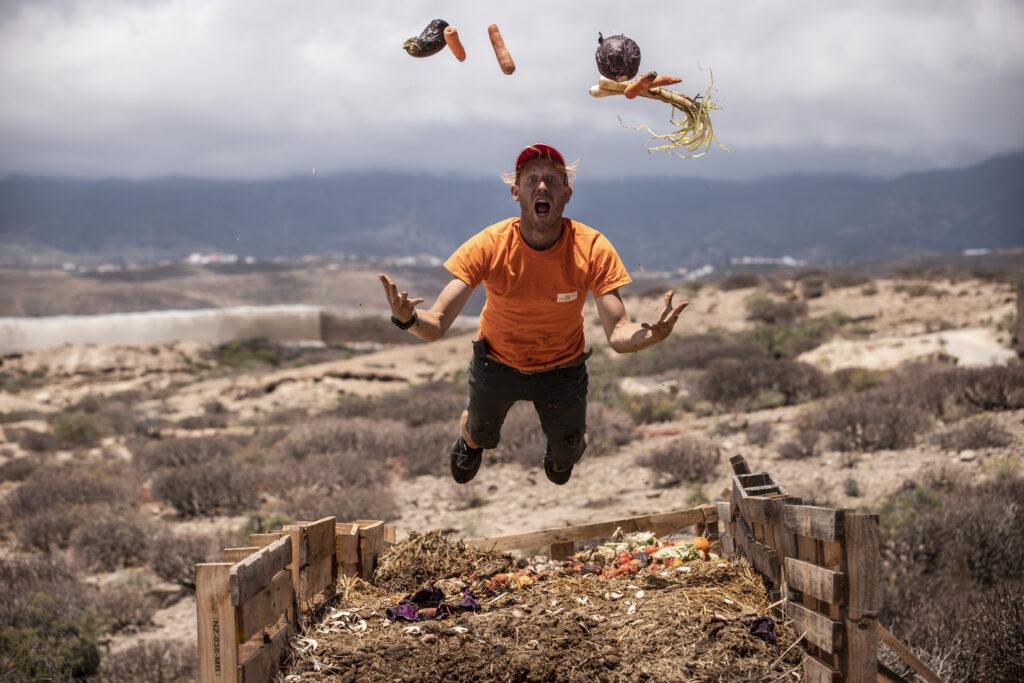 funny compost volunteer