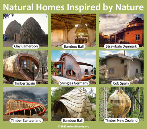different natural buildings